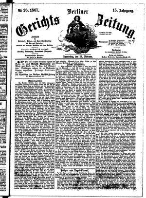 Berliner Gerichts-Zeitung vom 28.02.1867