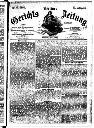 Berliner Gerichts-Zeitung on Mar 2, 1867