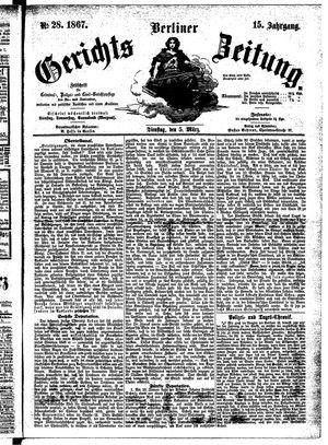 Berliner Gerichts-Zeitung vom 05.03.1867