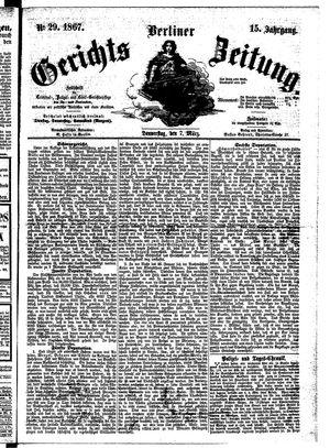 Berliner Gerichts-Zeitung vom 07.03.1867