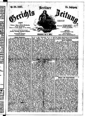 Berliner Gerichts-Zeitung vom 09.03.1867