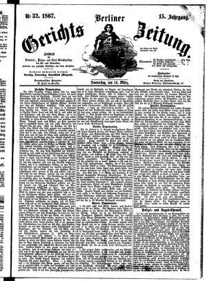Berliner Gerichts-Zeitung vom 14.03.1867