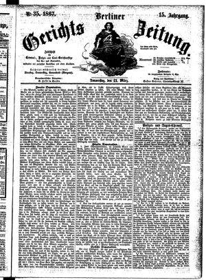Berliner Gerichts-Zeitung vom 21.03.1867