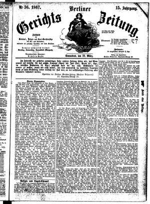 Berliner Gerichts-Zeitung vom 23.03.1867