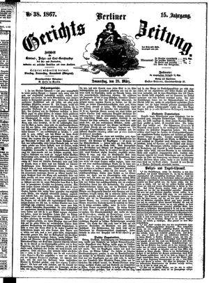 Berliner Gerichts-Zeitung vom 28.03.1867