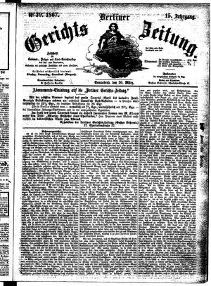 Berliner Gerichts-Zeitung vom 30.03.1867