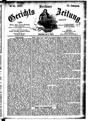 Berliner Gerichts-Zeitung vom 04.04.1867