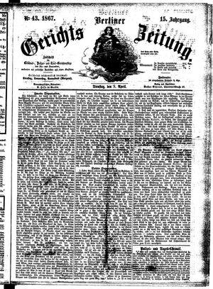 Berliner Gerichts-Zeitung vom 09.04.1867