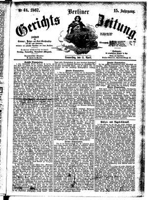 Berliner Gerichts-Zeitung vom 11.04.1867
