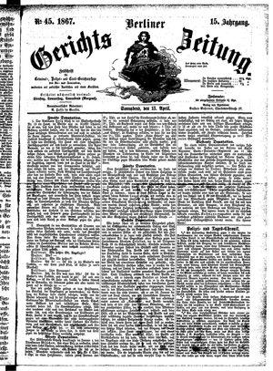 Berliner Gerichts-Zeitung vom 13.04.1867