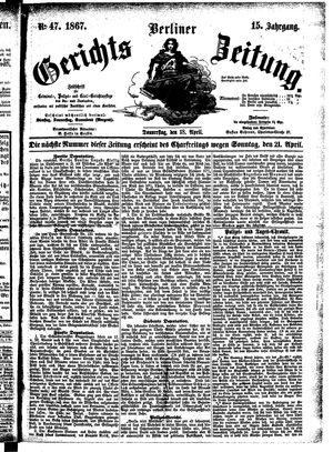 Berliner Gerichts-Zeitung vom 18.04.1867