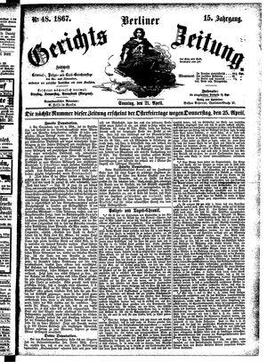 Berliner Gerichts-Zeitung vom 21.04.1867