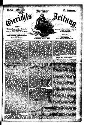 Berliner Gerichts-Zeitung vom 27.04.1867