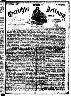 Berliner Gerichts-Zeitung vom 04.05.1867