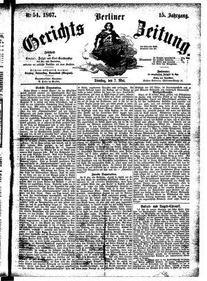 Berliner Gerichts-Zeitung vom 07.05.1867
