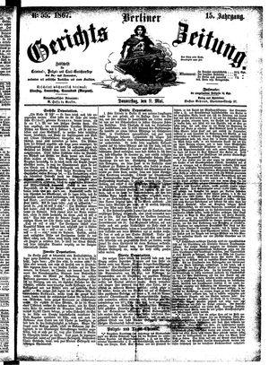 Berliner Gerichts-Zeitung vom 09.05.1867