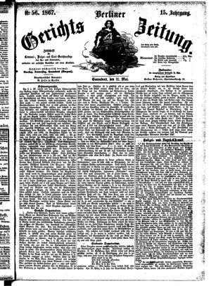 Berliner Gerichts-Zeitung on May 11, 1867