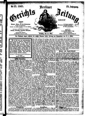 Berliner Gerichts-Zeitung vom 14.05.1867