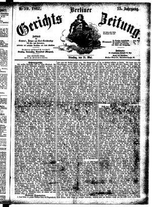 Berliner Gerichts-Zeitung vom 21.05.1867