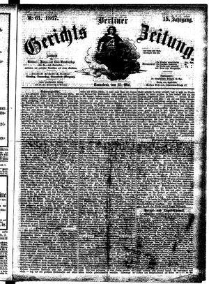 Berliner Gerichts-Zeitung vom 25.05.1867
