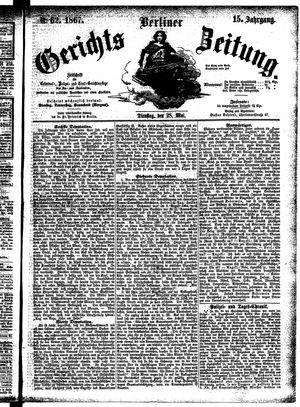 Berliner Gerichts-Zeitung vom 28.05.1867
