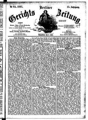 Berliner Gerichts-Zeitung vom 01.06.1867