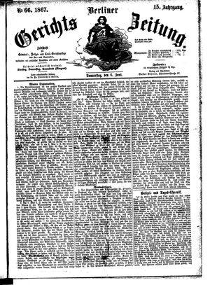 Berliner Gerichts-Zeitung vom 06.06.1867