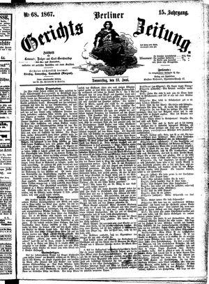 Berliner Gerichts-Zeitung vom 13.06.1867