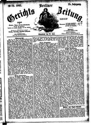 Berliner Gerichts-Zeitung vom 22.06.1867