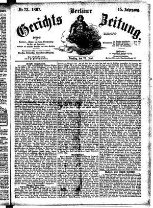 Berliner Gerichts-Zeitung vom 25.06.1867