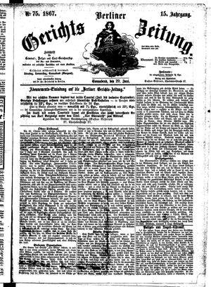Berliner Gerichts-Zeitung vom 29.06.1867