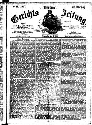 Berliner Gerichts-Zeitung vom 04.07.1867
