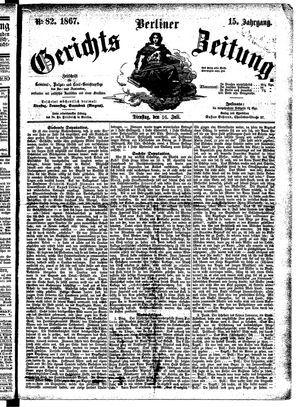 Berliner Gerichts-Zeitung vom 16.07.1867