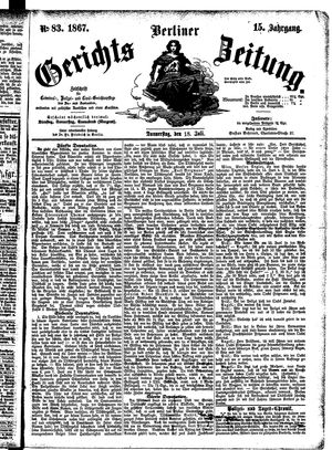 Berliner Gerichts-Zeitung on Jul 18, 1867