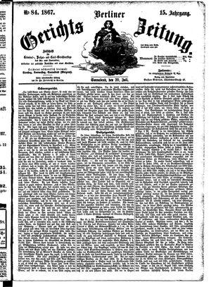 Berliner Gerichts-Zeitung on Jul 20, 1867