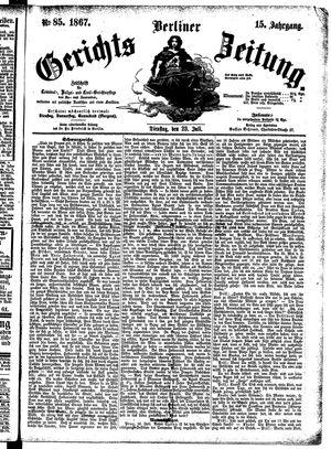 Berliner Gerichts-Zeitung vom 23.07.1867