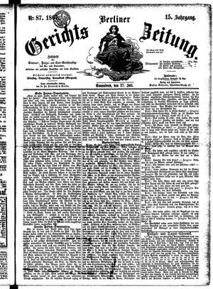 Berliner Gerichts-Zeitung vom 27.07.1867
