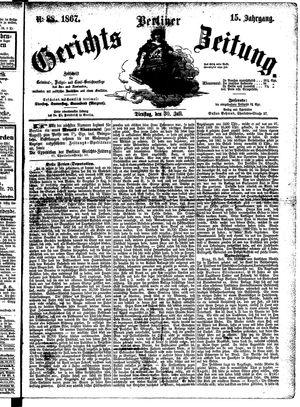 Berliner Gerichts-Zeitung vom 30.07.1867