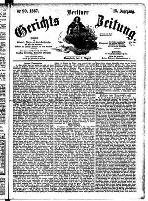 Berliner Gerichts-Zeitung vom 03.08.1867