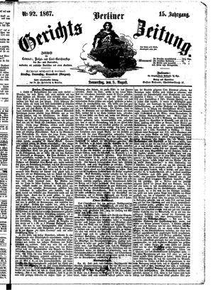 Berliner Gerichts-Zeitung vom 08.08.1867