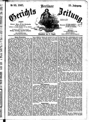 Berliner Gerichts-Zeitung vom 10.08.1867
