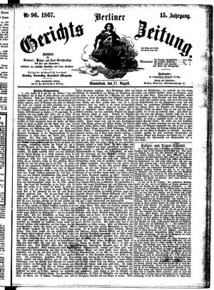 Berliner Gerichts-Zeitung vom 17.08.1867