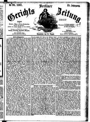 Berliner Gerichts-Zeitung vom 24.08.1867