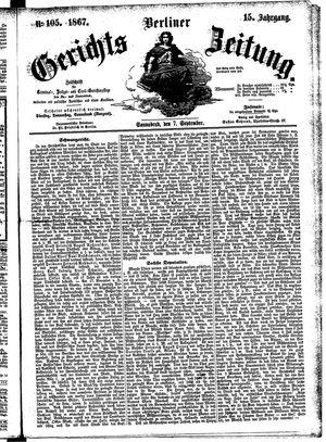 Berliner Gerichts-Zeitung vom 07.09.1867