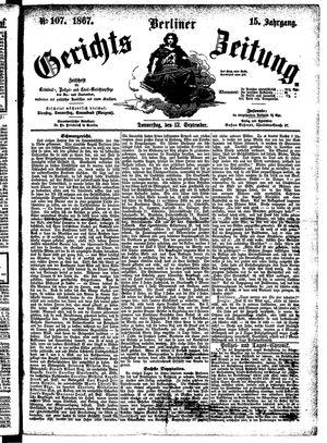 Berliner Gerichts-Zeitung vom 12.09.1867