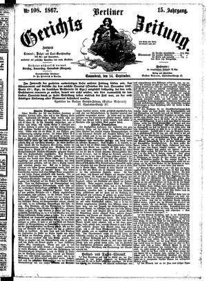 Berliner Gerichts-Zeitung vom 14.09.1867