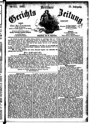 Berliner Gerichts-Zeitung vom 21.09.1867