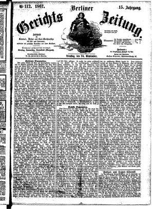 Berliner Gerichts-Zeitung vom 24.09.1867