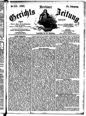 Berliner Gerichts-Zeitung vom 26.09.1867