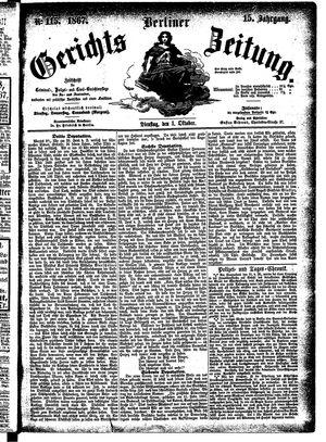 Berliner Gerichts-Zeitung vom 01.10.1867